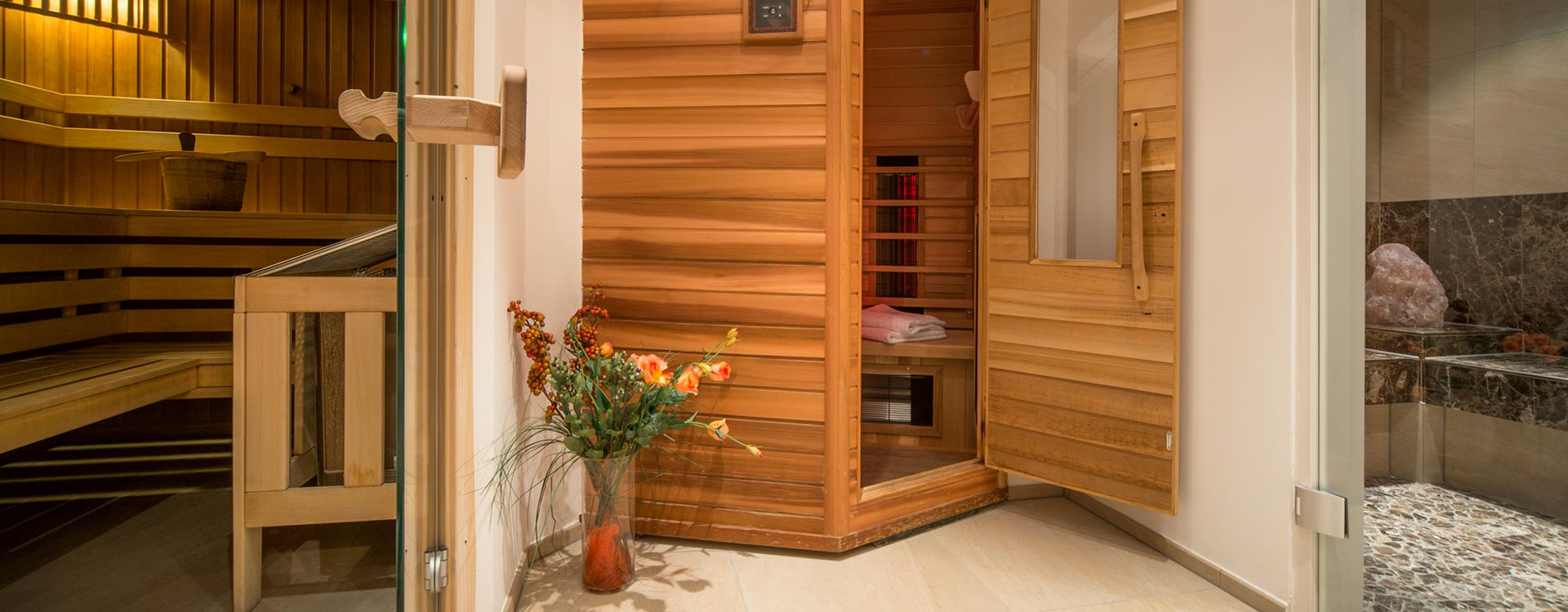 Finnish sauna - Infrared sauna - steam Sauna