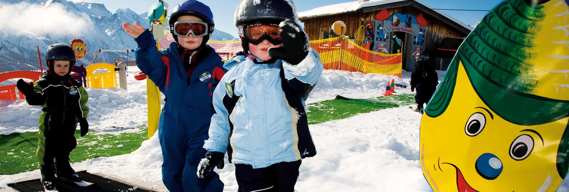 Children learn the Fun of Winter Sports